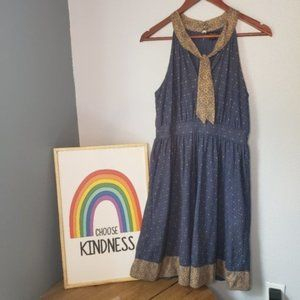 Anthropologie Deletta Dress Pussy Bow Size Small